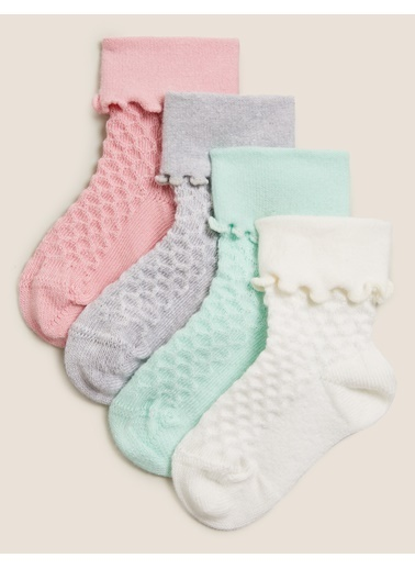 Marks & Spencer Fırfır Detaylı Çorap Seti Renkli